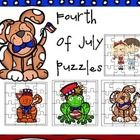 This is a set of four Fourth of July puzzles.  This is a fun way to work on fine motor skills....