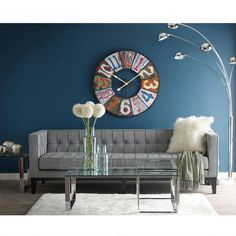 Love The Fun Design And Color In This Clock And How The Room Is Designed  Around
