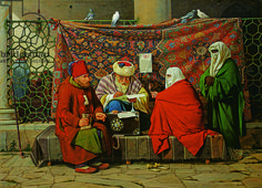 A Turkish Notary Drawing up a Marriage Contract in front of the Kilic Ali Pasha Mosque, Tophane, Cinstantinople, 1837