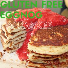 Nothing says 'tis the season this holiday quite like Eggnog. Here is a healthy and delicious eggnog protein pancakes breakfast recipe for you using my fave