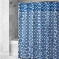 One of my favorite discoveries at ChristmasTreeShops.com: Waverly® Blue Damask Fabric Shower Curtain