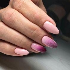 Gradient Nails Art Tutorial: How to Do Gradient Glitter Nails Long Nail Designs, Diy Nail Designs, Silver Nails, Glitter Nails, Stylish Nails, Trendy Nails, Diy Nails, Cute Nails, Gel Nagel Design
