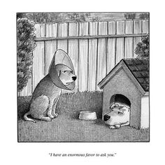 My favorite New Yorker cartoon is a rejected one.