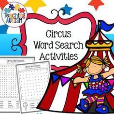 Circus Word SearchThis resource includes 7 easy and 5 harder style word search activities.All vocabulary is linked to the theme of the Circus and includes black and white graphics. This activity is part of my growing word search bundle available here at a fabulous discounted price.Click below to find: Circus Activities Word Search Activiites $2.99 and under cart fillers.=========================================================Once you have purchased this resource don't forget to come back…