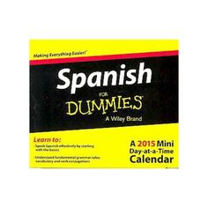 I'm learning all about Spanish for Dummies 2015 Calendar at @Influenster!