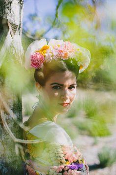 Snippets, Whispers & Ribbons #68 Frida Kahlo Wedding Ideas on Ruffled