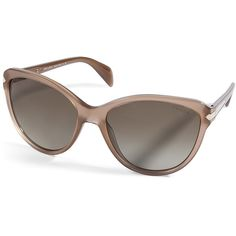 PRADA Taupe Acetate Cat-Eye Sunglasses ($290) ❤ liked on Polyvore