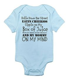 cf9422f404d Sky Blue  Mommy on My Mind  Bodysuit - Infant by CafePress
