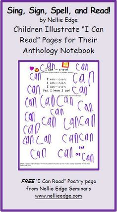 """Multisensory teaching with song and fingerspelling builds strong memory connections for high-frequency """"heart words"""".   http://www.nellieedge.com/freepoetry_sept1.htm#.UqylIqOA2M8"""