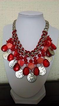 CG 027 Collar rojo monedas $ 11.990