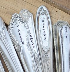 SET of TEN 10 Vintage Herb Garden Markers  . by thefyshstore - $40  Def. need to ask for these!