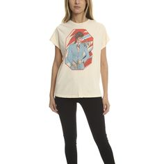 MadeWorn Rock MadeWorn David Bowie Tee (£130) ❤ liked on Polyvore featuring tops, t-shirts, women, distressed tees, david bowie vintage t shirt, destroyed t shirt, white t shirt and distressed white t shirt