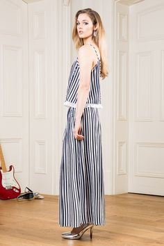 Front of the Line Pinstripe Jumpsuit Backless Jumpsuit, Pink Jumpsuit, Backless Maxi Dresses, Striped Jumpsuit, Night Out Outfit, Black Models, Brown Dress, Mannequin, Jumpsuits For Women