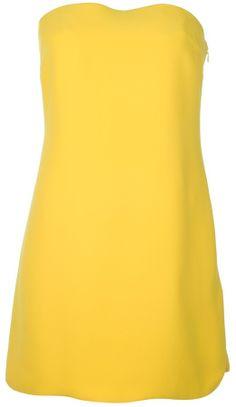 07444b7ba6d71 Ralph Lauren Slim Bandeau Dress in Yellow - Lyst Bandeau Dress