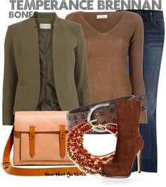 Inspired by Emily Deschanel as Temperance Brennan on Bones - Shopping info!