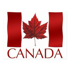 Shop Canada Flag Postcards Canadian Souvenir Postcards created by artist_kim_hunter. Personalize it with photos & text or purchase as is! Canada Day Images, Flag Pole Landscaping, Usa Flag Images, Visa Canada, Canada Eh, Canada Day Flag, Canada Tattoo, Home Office, South African Flag