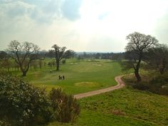 When the 18th had almost been completed in March. Beautiful views across the Cheshire countryside.