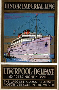 Liverpool shipping 1 Tourism Poster, Poster Ads, Advertising Poster, Vintage Concert Posters, Vintage Travel Posters, Liverpool Docks, Photo Deco, Vintage Boats, Railway Posters