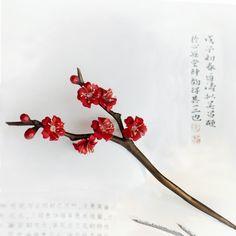 Chinese style Hair stickwood hair stickflower hair by Yujintang