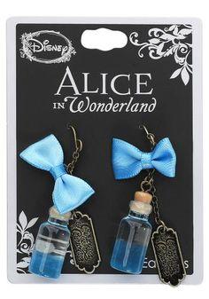 Bottle Curiouser - Ohrhänger von Alice im Wunderland