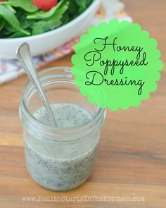 Honey Poppyseed Salad Dressing The BEST Poppyseed Dressing, and it's so good for you! Made with all natural REAL food ingredients! Uses honey instead of sugar! Poppyseed Salad Dressing, Paleo Dressing, Salad Dressing Recipes, Salad Dressings, Paleo Sauces, Paleo Recipes, Real Food Recipes, Cooking Recipes, Yummy Food