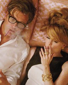 'A Single Man' Colin Firth, Julianne Moore - fabulous '60's style.