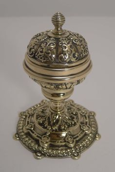 Antique English Brass Inkwell c.1880
