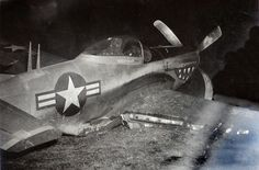 North American P-51 Mustang fighter, Clark Air Force base, Luzon, Philippines, 1948.