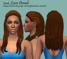 Mod The Sims - Nouk - Loose Dreads for ladies of all ages