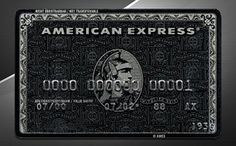 American Express Black Card. The only card you should have in your wallet.
