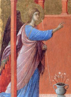 The Annunciation (Fragment) by @artbuoninsegna #protorenaissance