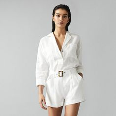 Beach Shirts, Front Tie Top, Reiss, Shirt Blouses, Pixie, Fashion Outfits, Shorts, Coat, Model