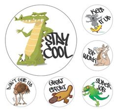 Avery 69601 Merit Stickers Aussie Animals pk 96