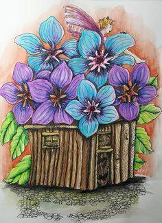 coloriage accéléré : Fairy houses and fairy doors V2