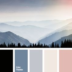 black black and pink blue and pink Blue Color Palettes color of fog in the mountains dairy color dawn colors fog color gray with a shade of blue grey blue pink tender pink. Black Color Palette, Color Schemes Colour Palettes, Bedroom Colour Palette, Blue Black Color, Colour Pallette, Pink Blue, Blue Grey, Color Schemes With Gray, Red Color