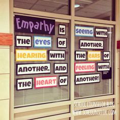 School Counselor Blog: Empathy Quote Bulletin Board