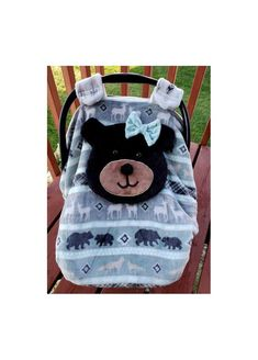 Super Soft Fitted Girl Bear Car Seat Canopy With Peek-A--Boo Opening Soft & Comfy Fabric, Ready To Be Shipped Woodland Animals by lindasnd on Etsy Baby Carrier Cover, Packers Baby, Canopy Cover, Baby Must Haves, Cute Cars, Minky Fabric, Woodland Animals, Baby Sewing, Baby Accessories