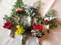 Seasonal Buttonholes by The Garden Gate Flower Company