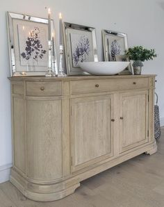 Handcrafted in weathered oak, the Large Belmont Weathered Oak Sideboard has ample storage with three drawers, and complements our popular Belmont Dining Tables. Oak Sideboard, Weathered Oak, Colour Schemes, Luxury Interior, Family Room, Furniture Design, Dining Table, Interiors, Cabinet