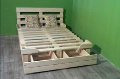 Platform Bed with Storage Plans Free