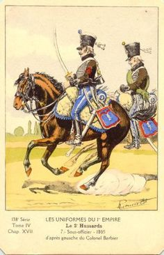 FRANCE - Sous-officier des 2° Regiment Hussards, 1805
