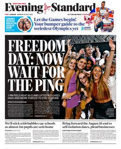 #TomorrowsPapersToday - Twitter Search / Twitter Freedom Day, Newspaper Headlines, Bring It On, Let It Be, Olympics, Search, Twitter, Searching