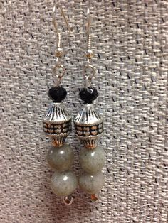 Black, Silver, and Grey Earrings