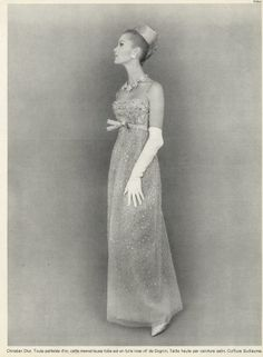 Christian Dior 1964 Pottier Evening Gown Fashion Photography
