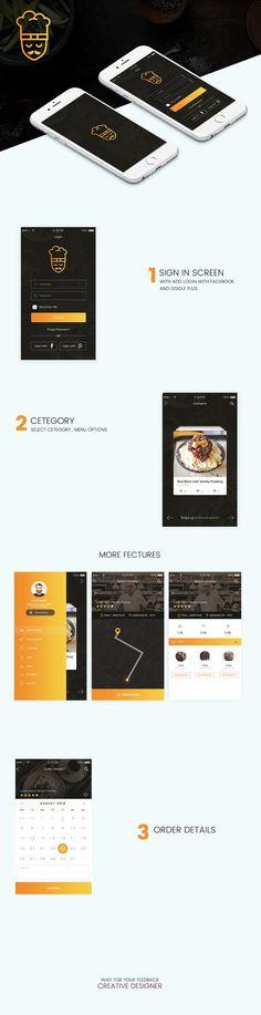Food Delver app on Behance