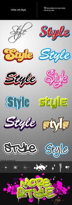 Text style - Text Effects Styles Photoshop Tutorial, Cool Photoshop, Photoshop For Photographers, Photoshop Photography, Graffiti Lettering, Lettering Design, Photoshop Text Effects, Photoshop Actions, T Shirt Logo Design