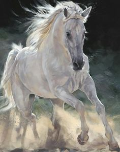 Image of Caballero Artwork By Debbie Boon Knight On Horse, Knight Art, Horse Artwork, Horse Wall Art, All The Pretty Horses, Beautiful Horses, Horse Drawings, Animal Drawings, Horse Oil Painting