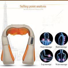 New Electric Cervical Massage Shawl Machine Shoulder Chest Neck Kneading GirdleBody Massage Double-use Acupuncture Shawl Beige#