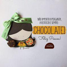 Agora uma #biaPOF na versão @cacaushow  já garanti minha páscoa (difícil foi terminar o desenho sem terminar o chocolate!) • compartilhe seu lado poeta também, é só usar a #PascoaePoesia :)