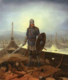 Batalla de Svolder, año 1.000, Olaf I de Noruega es emboscado por sus enemigos cuando regresa de una incursión en Pomerania. Al parecer sólo contaba con once barcos a su disposición, mientras sus rivales, Svend I de Dinamarca, Olaf de Suecia y Erick Haconsson, conde noruego, le atacan con unos 70. La formación defensiva de Olaf I es atacada buque a buque, hasta llegar en último lugar al barco del propio rey, quien antes de caer en manos de sus rivales se... Más en www.elgrancapitan.org/foro